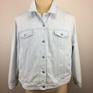 Lauren Ralph Lauren Denim Jacket Plus Size 3X Vtg